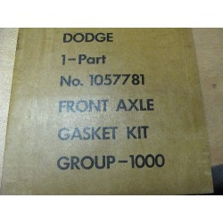 Front axel gasket kit