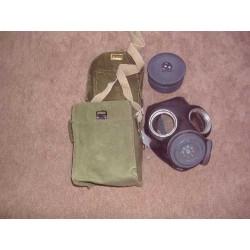 Gasmasker inclusief tas en filter WO II