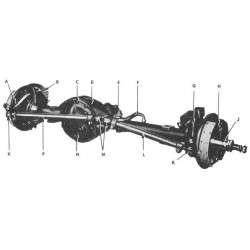Front axel complete used